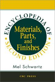 Cover of: Encyclopedia of Materials, Parts, and Finishes