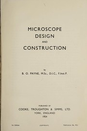 Cover of: Microscope design and construction