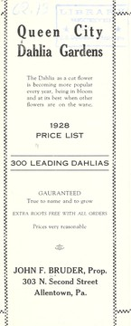 1928 price list [of] 300 leading dahlias
