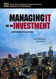 Cover of: Managing IT as an investment