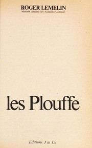 Cover of: Les Plouffe