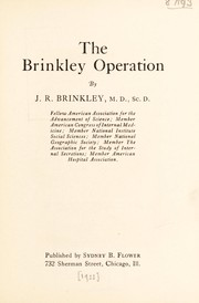 Cover of: The Brinkley operation