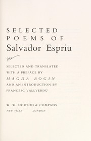 Cover of: Selected poems of Salvador Espriu