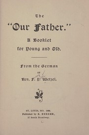 "Cover of: The ""Our Father."""