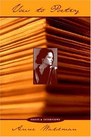 Cover of: Vow to Poetry | Anne Waldman