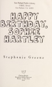 Cover of: Happy birthday, Sophie Hartley