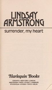Cover of: Surrender,  My Heart | Lindsay Armstrong