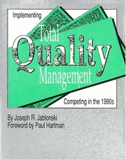 Cover of: Implementing Total Quality Management by Joseph R. Jablonski