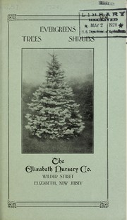 Cover of: Evergreens, trees, shrubs [catalog] | Elizabeth Nursery Co