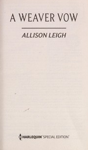Cover of: A Weaver vow | Allison Leigh