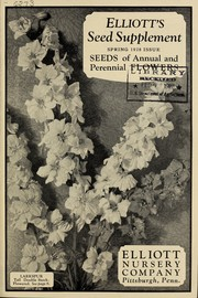Cover of: Elliott's seed supplement