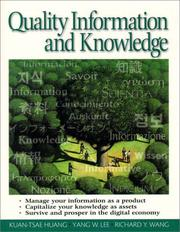 Cover of: Quality information and knowledge