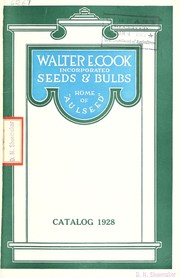 Cover of: Seeds & bulbs | Walter E. Cook, Inc