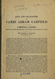 Cover of: Life and character of James Abram Garfield