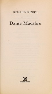 Cover of: Danse macabre | Stephen King