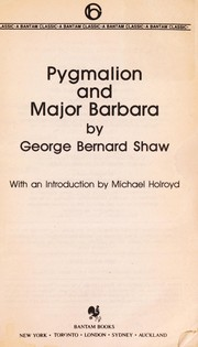 Cover of: Pygmalion and Major Barbara