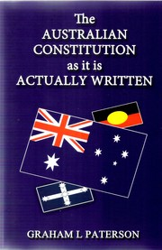 Cover of: The Australian Constitution as it is Actually Written by