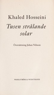 Cover of: Tusen stra lande solar