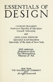 Cover of: Essentials of design