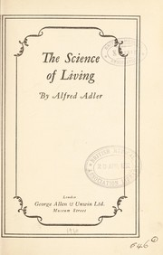 Cover of: The science of living