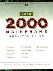 Cover of: Year 2000 mainframe survival guide