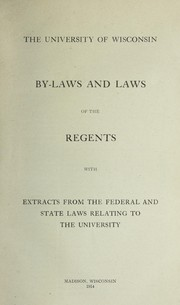 Cover of: By-laws and laws of the regents