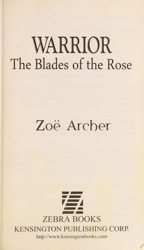 Warrior by Zoe Archer