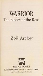 Cover of: Warrior | Zoe Archer