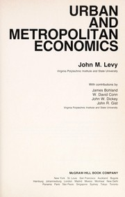 Cover of: Urban and metropolitan economics