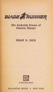 Cover of: Blade Runner (Do Androids Dream of Electric Sheep)
