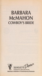 Cover of: Cowboy'S Bride | Barbara McMahon