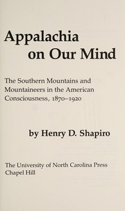 Cover of: Appalachia on our minds