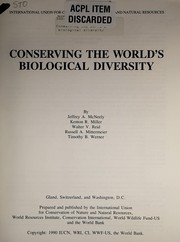 Cover of: Conserving the world's biological diversity