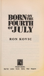 Cover of: Born on the Fourth of July | Ron Kovic