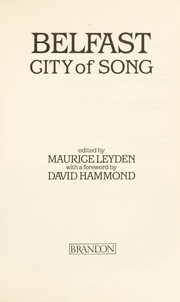 Cover of: Belfast, City of Song