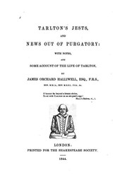 Cover of: Tarlton's Jests and News Out of Purgatory