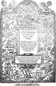 Cover of: The mathematicall praeface to the Elements of geometrie of Euclid of Megara (1570)