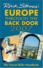 Cover of: Rick Steves' Europe through the back door 2007