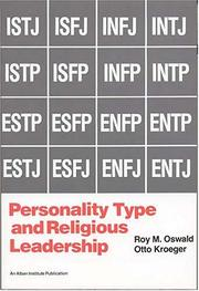 Cover of: Personality Type and Religious Leadership