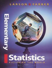 Cover of: Elementary Statistics: Picturing the World