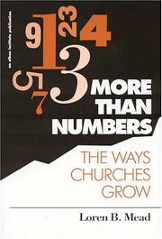 Cover of: More than numbers | Loren B. Mead
