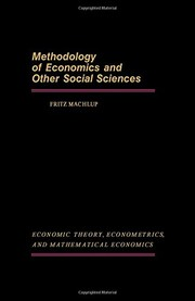 Cover of: Methodology of economic and other social sciences