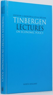 Cover of: Tinbergen lectures : on economic policy