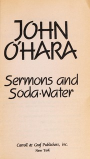 Cover of: Sermons & Soda Water