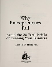 Cover of: Why entrepreneurs fail