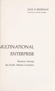 Cover of: National interests and the multinational enterprise