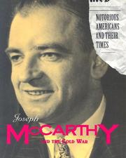 Cover of: Joseph McCarthy and the Cold War (Notorious Americans and Their Times)