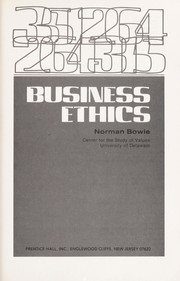 Cover of: Business ethics