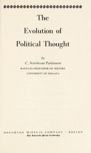 Cover of: The evolution of political thought