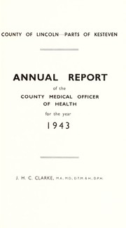 Cover of: [Report 1943] | Kesteven (England). County Council